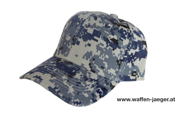 Schießkappe Camouflage Grau / Blau