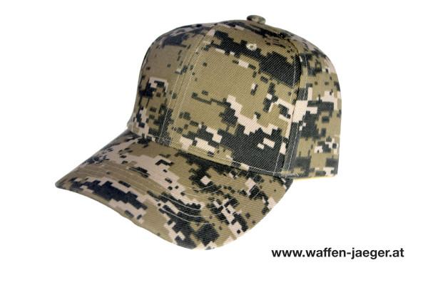 Schießkappe Camouflage Ocker / Schwarz