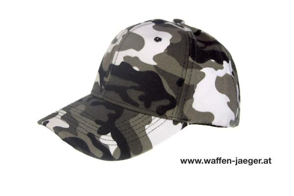 Schießkappe Camouflage Grau / Schwarz