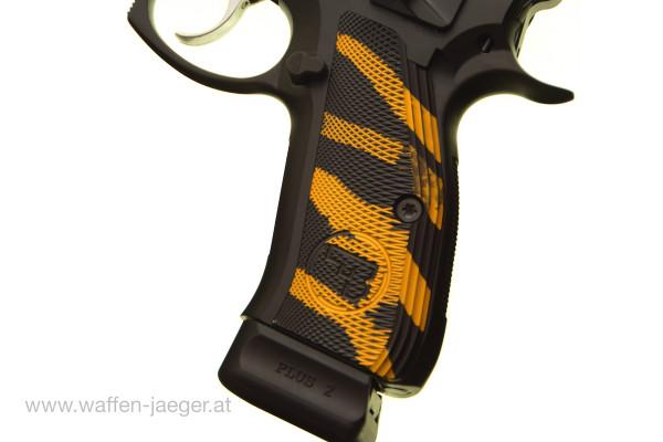 CZ SP-01 Griffschalen Long Version Schwarz-Gold