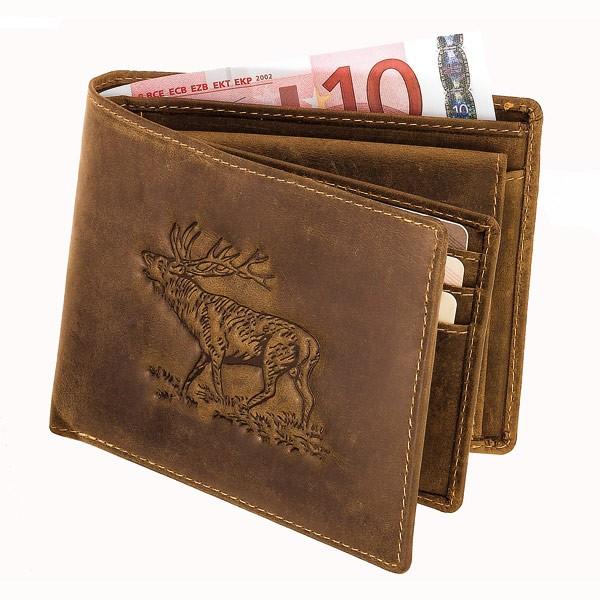 Geldbörse Hirschprägung Querformat