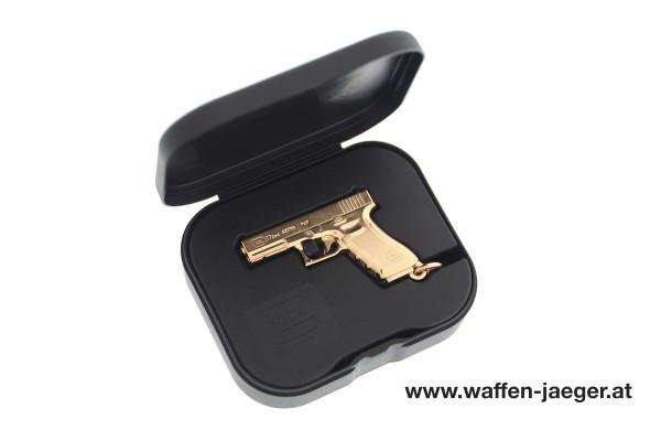 Glock Schlüsselanhänger vergoldet