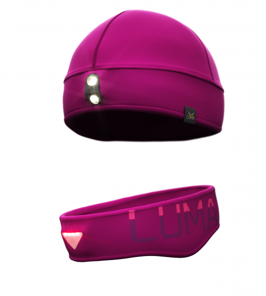 Luma LED Stirnband & Mütze BOOST Pink
