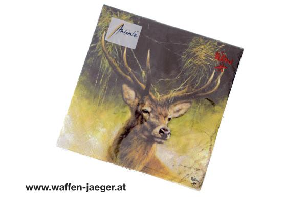 Jagdservietten Hirsch